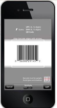 scan UPC barcodes