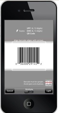 scan UPC barcodes